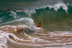 Surfs Up (davegammon.media) Tags: surf wave water beach hawaii kauai bodyboard
