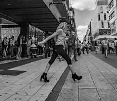 in a hurry...    Stockholm / Sweden (mikeback-streetphotography) Tags: blackandwhitephotography blackandwhite black bnw blackwhite bw urbanwalls urban urbanart tunnelbana monochrome mono monochromatic gamlastan stockholm gatufotografi girl girls photography people photographer photo photooftheday streetphotographers streetphotography sweden streetart street streetarteverywhere streetartistry streetlife streetphoto streetstyle mikebackstreetphotography mike back