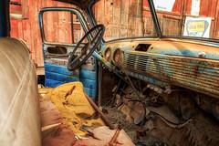 General Motors Truck (KPortin) Tags: truck htt truckinterior abandoned rusting wornout