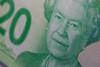 The Queen -- HMM (Jessie T*) Tags: macromondays queen macro macrophotography queenelizabethii 20bill money canadianmoney
