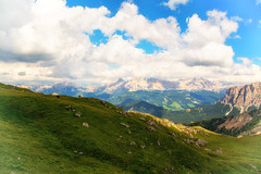 (dastine) Tags: nature panoramic landscape mountain sky grass outdoors travel hill cloud summer valley mountainpeak sight scenic noperson hayfield panorama rock fairweather