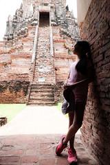 ayuttya (6) (milk_jindarat) Tags: ayuttya people thailand temple heritage graffiti girl daughter kid