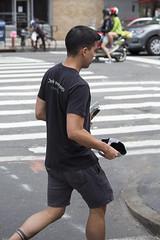 094A9634 v2 (Wheels Down) Tags: nyc twink shorts tattoo candid hottie streetphotography tshirt legs