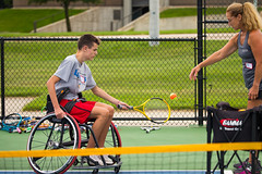 Tennis @ Mary Free Bed Wheelchair Sports Camp 2017 (mfbrehab) Tags: mary free bed mfb wheelchair adaptive sports rehab rehabilitation hospital kids camp 2017 grand rapids mi michigan usa gvsu valley state university tennis