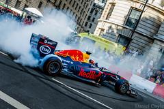 Daniel Ricciardo (Daniel Coyle) Tags: danielricciardo redbull redbullracing f1live f1livelondon london centrallondon whitehall racing racingcar doughnuts ricciardo danielcoyle nikon nikond7100 d7100 car fast speed trafalgarsquare f1 f1car formulaone formulaonecar
