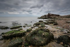 A wider perspective (James Waghorn) Tags: sigma1020f456 seaweed summer beach longexposure d7100 clouds sea reculver nd1000 pebbles nisi groyne kent water rocks smooth england