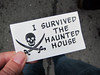 Haunted House award (pr0digie) Tags: hmb halfmoonbay art pumpkin festival hauntedhouse award card business skull crossbones