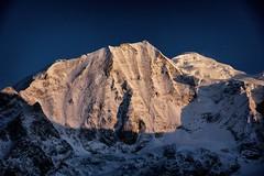 first sunlight on larkya himal (beudii) Tags: manaslu larkya himal himalaya nepal asia asien trekking wandern hiking outdoor gletscher glacier pass berge mountains