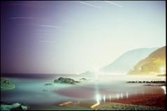 (✞bens▲n) Tags: pentax lx velvia 100 at200 fa 31mm f18 limited film slide analogue japan shizuoka beach water dark night longexposure stars sky reflection フィルム