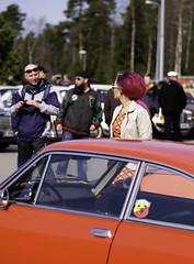 RED. (SkipperWP) Tags: girl people person car cars trees human woman men fuji fujifilm xf50140 redhair red