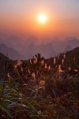 Yangshuo Sunrise (fesign) Tags: asia beautyinnature chinaeastasia colourimage dusk eastasia elevatedview guangxizhuangautonomousregionchina guilin hill landfeature layers locallandmark morning mountain mountainrange nature naturereserve nopeople outdoors photography rollinglandscape ruralscene scenics sky sunlight sunrise sunrisedawn touristresort tranquilscene travel traveldestinations vertical yangshuo