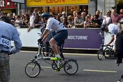 2017-06-10: First Away (psyxjaw) Tags: london londonist nocturne bike race cycling cycle event city cityoflondon racing brompton folding foldingbike