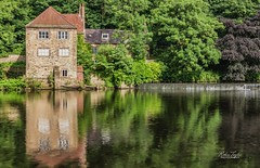Fulling Mill Reflections (robinta) Tags: durham mill architecture building historic ancient landmark brick river riverwear water reflections weir pentax sigma sigma18200mmhsmc ks1 ngc pentaxart heritage england blur longexposure color colors trees summer