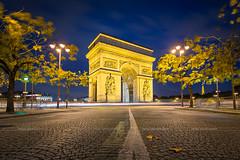Autumn in Paris (Michael Abid) Tags: paris arc triomphe arch night france arcdetriomphe triumphalarch famous landmark architecture french city street autumn ngc