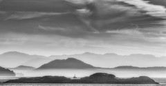 18th jul bw (c.turzak...) Tags: bw westcoast bc canada georgiastraight travel departurebay vancouverisland atmosphere mist dusk
