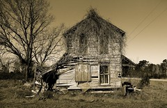 Little by Little (Jon Scherff) Tags: oldhouse sepia alone delapidated abandoned house fallingapart forgotten nikond810 oncewashome