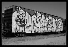 Atomik (All Seeing) Tags: bnsf wholecar orange bw msg chrome