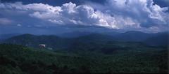 Adygea (Alex Speedo) Tags: landscape film mountains summer trip travel russia sky analog view hexanon koniomegarapid mformat mediumformat fujifilm velvia50 e6 slide koniomega6x7 rangefinder