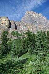 Castle Mountain, Banff (Andrew Pizzinato) Tags: mountain lake water hiking castlemountain banff banffnationalpark