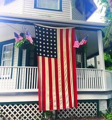 stars & stripes (ekelly80) Tags: 4thofjuly independenceday july2017 dc washingtondc summer palisades flag decorations americanflag red white blue starsstripes porch neighborhood