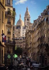Montmartre (Alain Dutertre) Tags: streetphotography street flag france church sacrécoeur montmartre paris