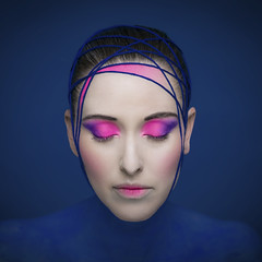 P80A2890B (TonivS) Tags: antonvanstraaten avantguarde shadesofblue bluepink beauty portrait beautymodel female face makeup