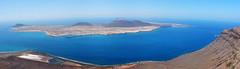 La Graziosa (RafalZych) Tags: spain island islands canary kanaryjskie wyspy la graziosa pano panorama atlanatic water blue lanzarote