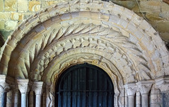Durham Cathedral, cloister arch
