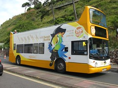 18186, Torbay Road, Torquay, 17/07/17 (aecregent) Tags: torbayroad torquay 170717 stagecoachsouthwest trident alx400 opentopper 18186 mx54lpn swashbuckle swashbucklethepirateparrot 122 hop122