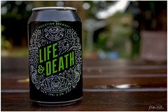 Life & Death (mattpacker1978) Tags: beer ipa ale strong hops wheat alcohol lifedeath life enjoy drinking flavours aromas barley hazybeer hazy fruity rich golden yeast outside garden can canon canon700d canondigital canonphotography