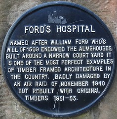 [52534] Coventry : Ford's Hospital (Budby) Tags: coventry westmidlands timbered plaque information history heritage almshouses