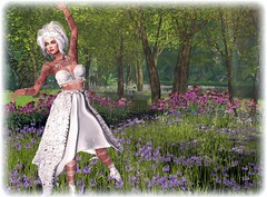Midsummer Day's Dream (lauragenia.viper) Tags: allialidesigns arte bento chloe glamaffair ktcreatorsfestival lelutka lumipro maitreya nantra sashebascloset secondlife secondlifefashion twomoongardens ysys fairy ballet white forest flowers landscaping virtual avatar elegant outdoor person dance tattoo ink whitewidow