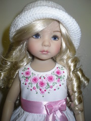 Dianna Effner Little Darling - dress, shoes, hat. (littlegiftcove) Tags: diannaeffnerlittledarlingdress shoes hat dress embroidered