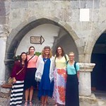 Honors students pose together as they explore Samos.
