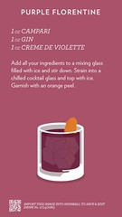 Purple Florentine, check out more cocktails at http://ift.tt/2dslAbC (cocktailflashcards) Tags: highball cocktail purple florentine campari gin creme de violette