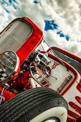 Classic (ISP Bruno Laplante) Tags: hpt rod classic tire red white clouds sky clue black whitewall wall vintage chrome