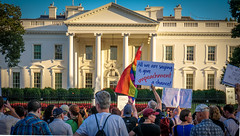 2017.07.26 Protest Trans Military Ban, White House, Washington DC USA 7643