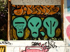 Aliens (aestheticsofcrisis) Tags: street art urban interventions streetart urbanart guerillaart graffiti postgraffiti barcelona spain raval europe