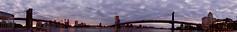 Two Bridges (PaoloCristina) Tags: newyork newyorklovers brooklynbridge manhattanbridge skyline clouds panorama nikon d7200 tokina 1116 affinityphoto