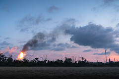 Wilton Flaring (peterattheboro) Tags: wilton ici chemicalplant redcar middlesbrough fire flames chimney cleveland