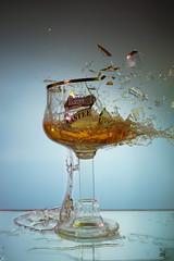 Such a waste! (Wim van Bezouw) Tags: sony glas beer kasteel bier pluto trigger sound strobist object plutotrigger airgun airpistol ilce7m2 glass brokenglass