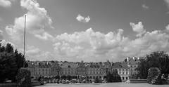 Lublin Old Town (Grzegorz Krol) Tags: lublin old town bw black white blackandwhite building architecture clouds sky pentax poland