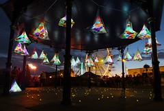 Barry Isle of Fire (DJLeekee) Tags: barry island isleoffire festival event beach fire flames music fairground lights illuminations sky 2017 lantern