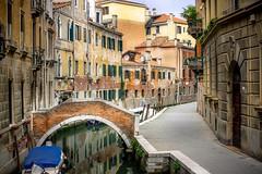 Strolling in Venice (einaz80) Tags: venezia venice calle channel canale ponte bridge water acqua italia italy fondamenta