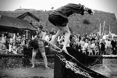 Skimboarder (Jeena Paradies) Tags: water skimboard varberg sweden summer jump audience crowd