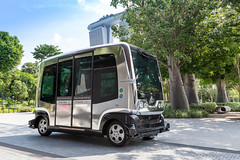 Selbstfahrender Mini-Bus in Singapur