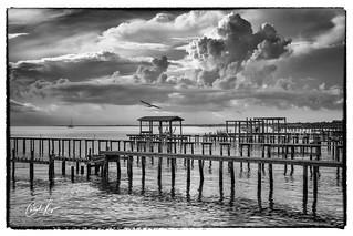 Saturday Morning in Kemah, Texas - Shot 1 - Toward Galveston