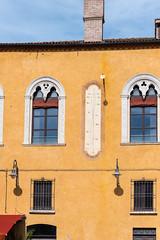 Sundial in Piazza del Municipio, Ferrara (MikePScott) Tags: architecturalfeatures builtenvironment camera emilioromagna featureslandmarks ferrara italia italy nikon28300mmf3556 nikond600 sundial window emiliaromagna