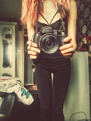 Capturing moments📷❤ (mischievousmoonpixie) Tags: camera moments caption photography armaturephotographer photographer quote tumblr girl tattoos piercings dyedhair redhair orangehair like follow like4like selfportrait
