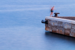 20/52: Movement (JosipaB) Tags: split croatia long exposure canon 700d 70200mm blur movement sea 7dwf people europe marine longexposure